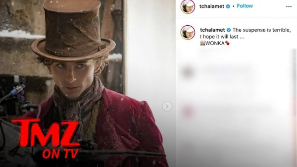 Timothee Chalamet Shows Off First Look of Himself as Young Wonka   TMZ TV