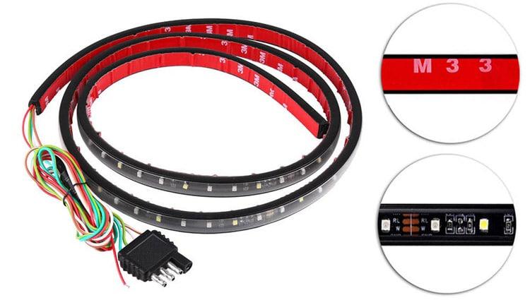 Partsam Tailgate LED Light Bar components