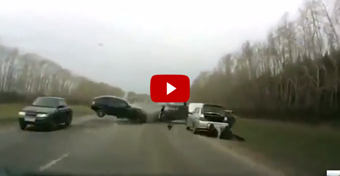 Insane Car Crash Caught On Tape 4wheel Online Blog