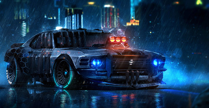 21 Year Old Phenom Is Painting Insane Sci Fi Vehicle