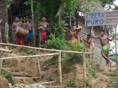 Greetings from Embera Puru village in Panama jungle