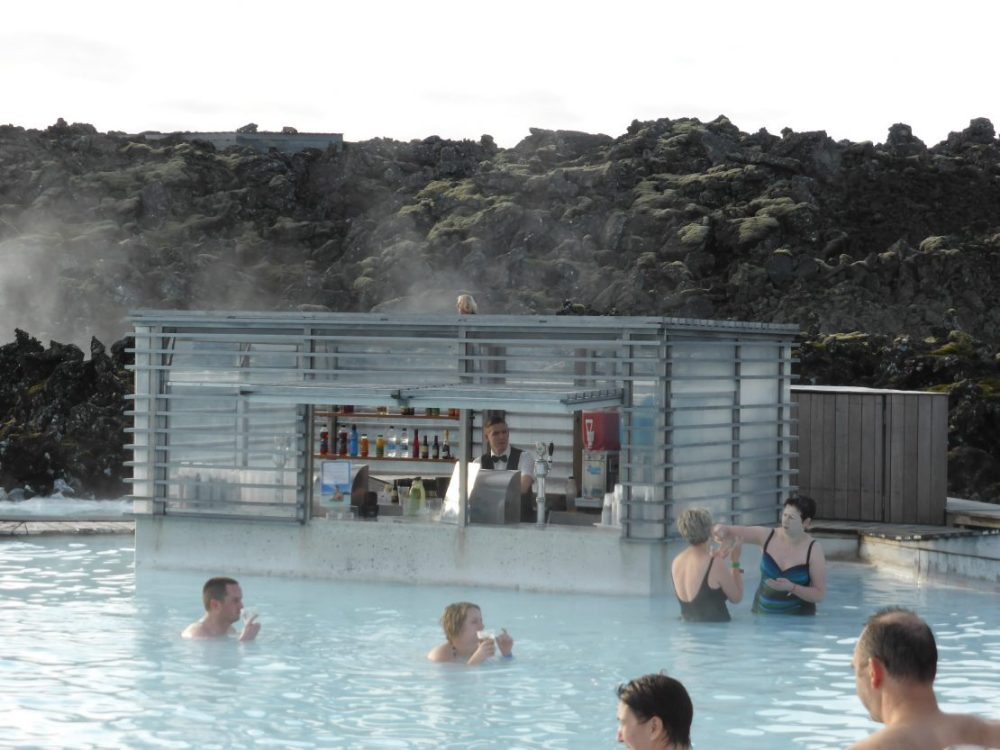 Blue Lagoon's swim up bar