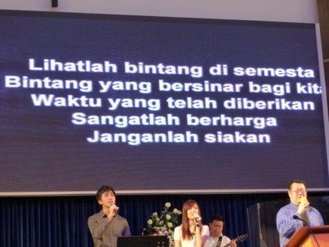Praise song lyrics at Kuala Lumpur Baptist Church