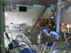 Inside the family restaurant.