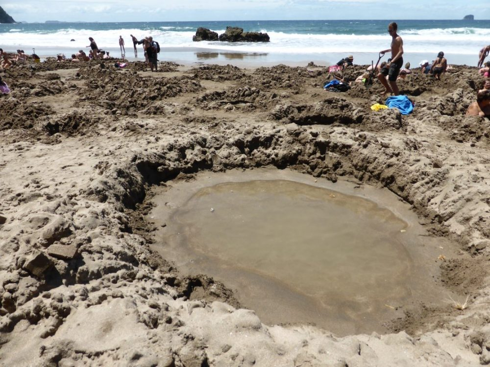 Hot water hole on Hot Water Beach