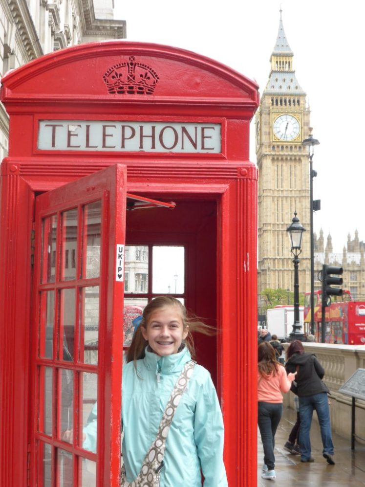 Big Ben red phone booth Delaney