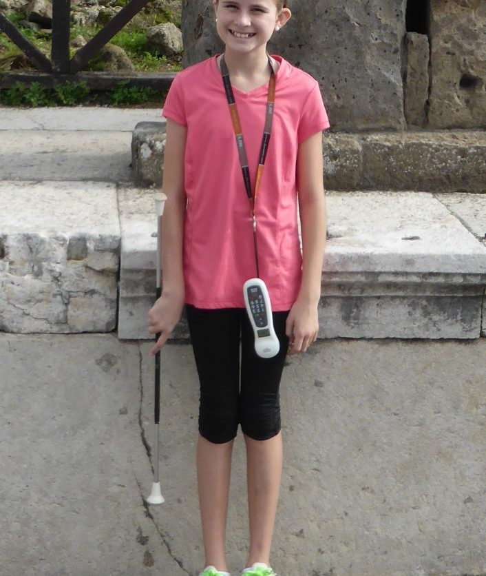 girl with baton