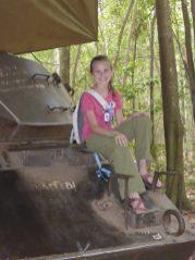 girl on tank