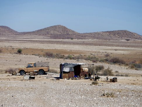 Namibia is the second least populated country in the world.