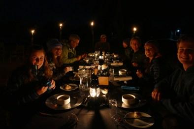 dinner under the African stars