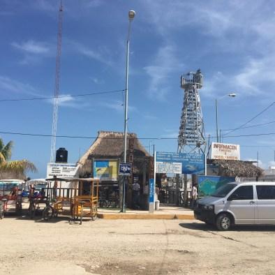 Chiquila ferry port