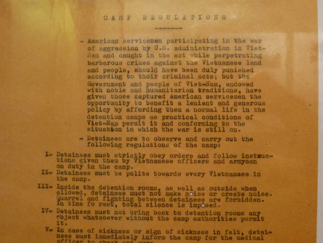 Hoa Lo prison regulations