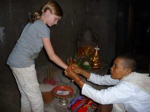Blessing at Angkor Wat