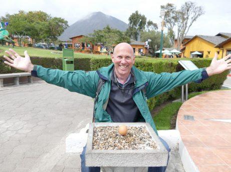 Balanced egg at the equator
