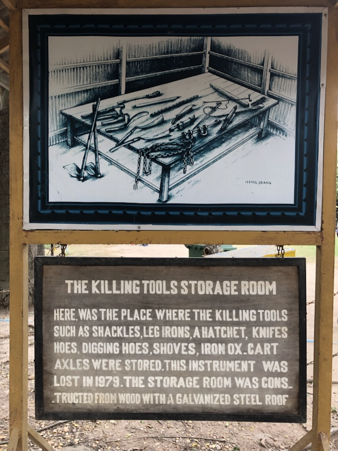 The different tools used to execute Cambodians. Bullets were not used because they were too expensive.