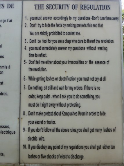 S-21 Prison rules