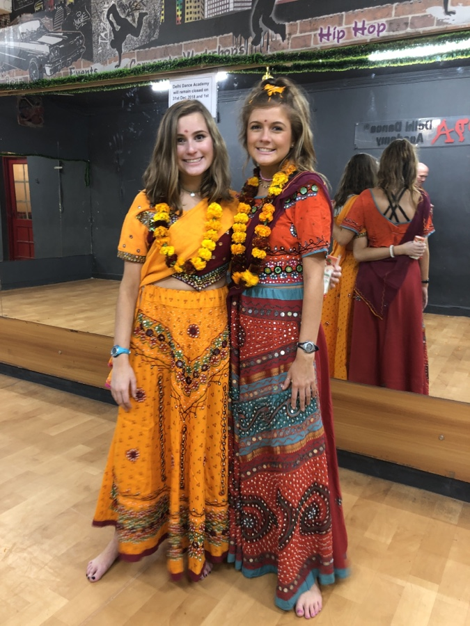 Delaney and Riley wearing Ghagra Cholis