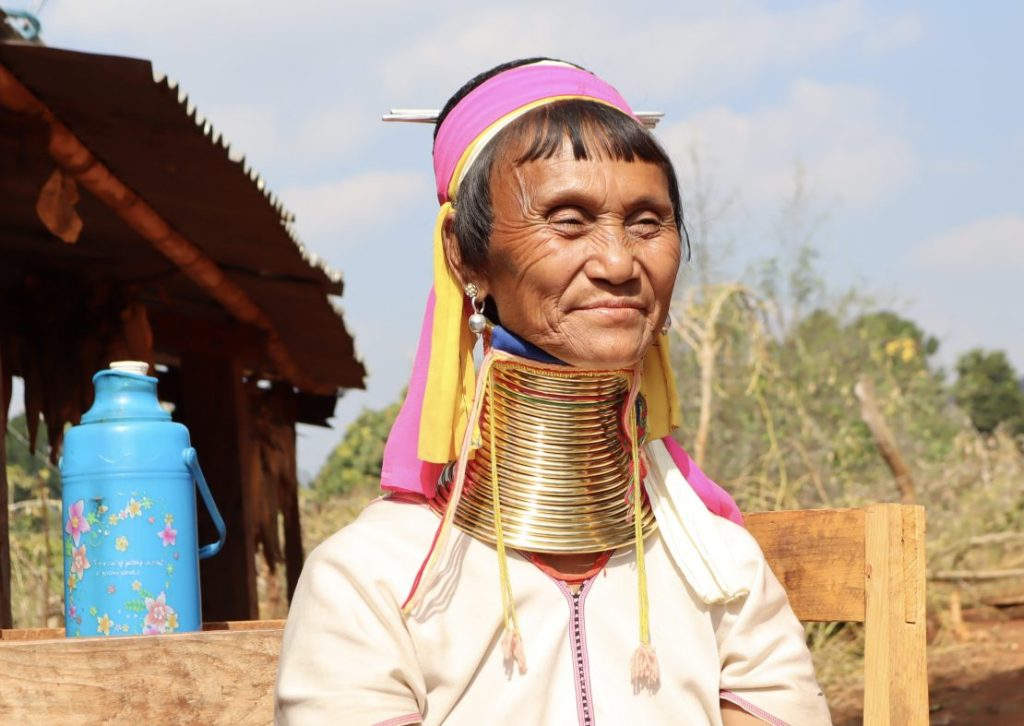 Long Neck Woman from Kayan tribe in Myanmar