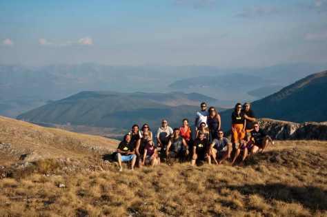 Na vrhu Galičice s pogledom na Prespansko jezero