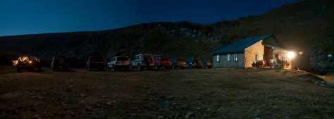 Noć u domu na Golemom ezeru na 2200 m visine