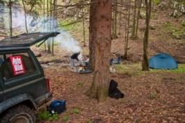 Камп у шуми Трест