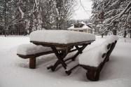 Svež sneg koji je pao između naše dve posete