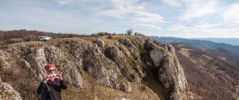 Zdravča gives fantastic opportunities to reach the cliffs 4x4
