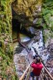 Descending into the Scarisoara cave