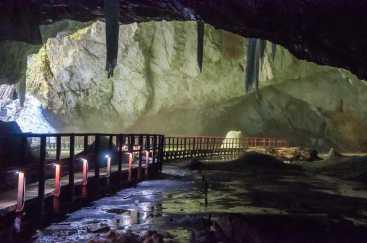 Inside the Scarisoara cave