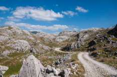 The dramatic, rocky terrain of Maganik