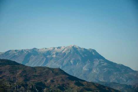 Mount Tomorri as seen from afar
