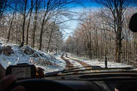 Snowy road to Beljanica