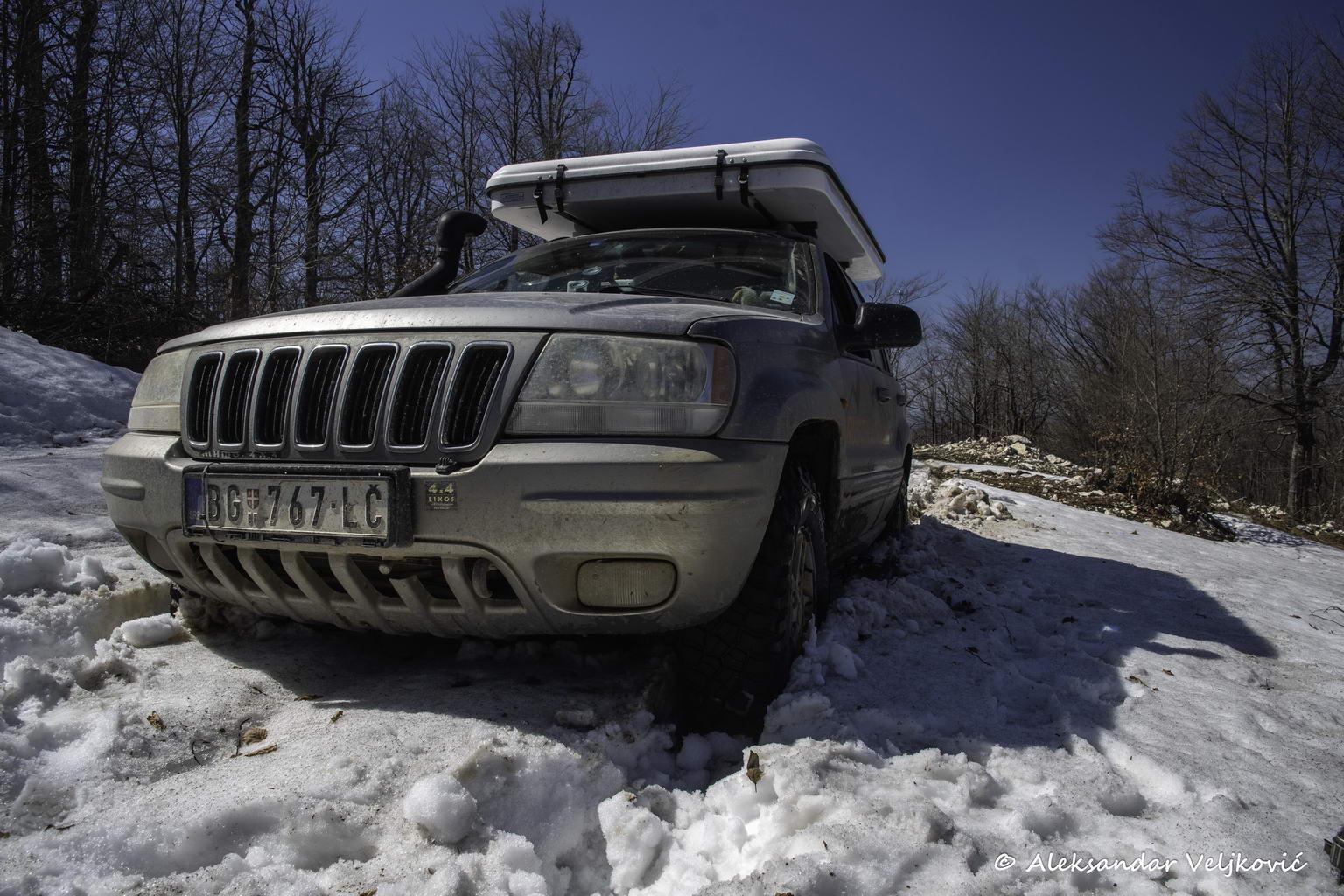 Trying to break the wet snow blockade
