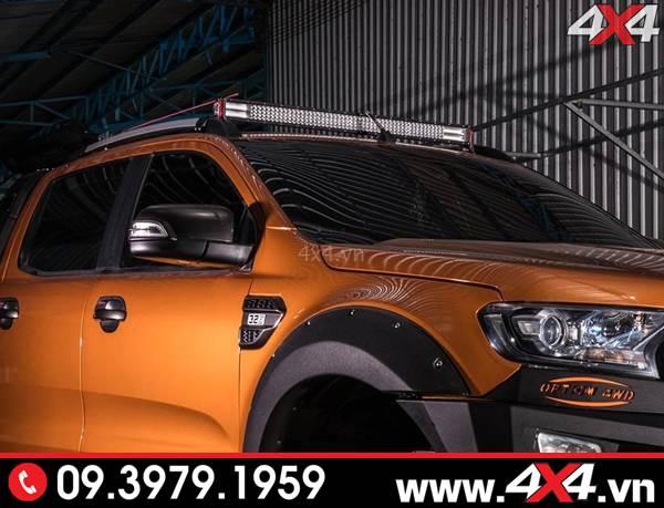 Độ đèn Ford Ranger: Đèn led bar 12D Novaled đẹp và đẳng cấp độ xe bán tải