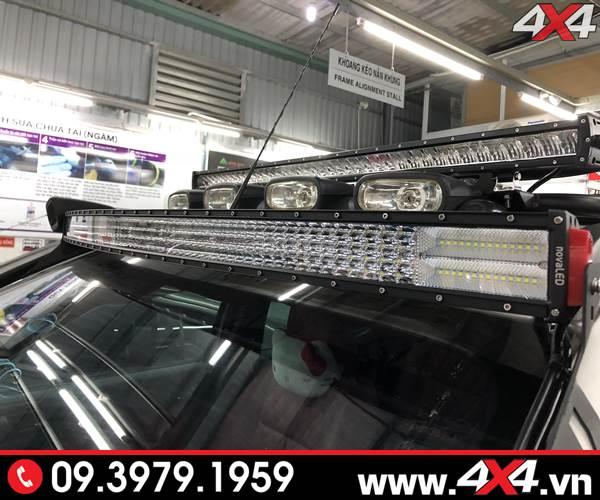 Độ đèn Ford Ranger: Đèn led bar Novaled 8D và lúp vòm độ đẹp cho xe bán tải