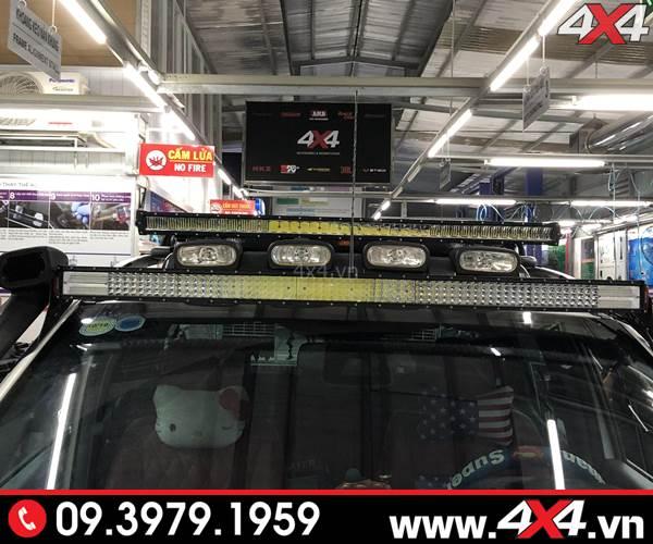 Độ đèn Ford Ranger: Đèn led bar siêu sáng Novaled và đèn led bar 8D độ đẹp, tăng sáng tốt