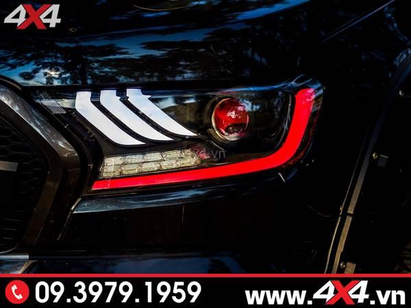 Độ đèn Ford Ranger: Đèn trước độ kiểu Ford Mustang cực ngầu