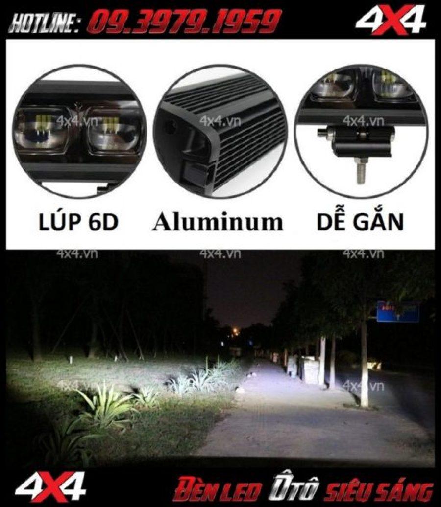 Đèn 6D lúp lớn cho ánh sáng tốt