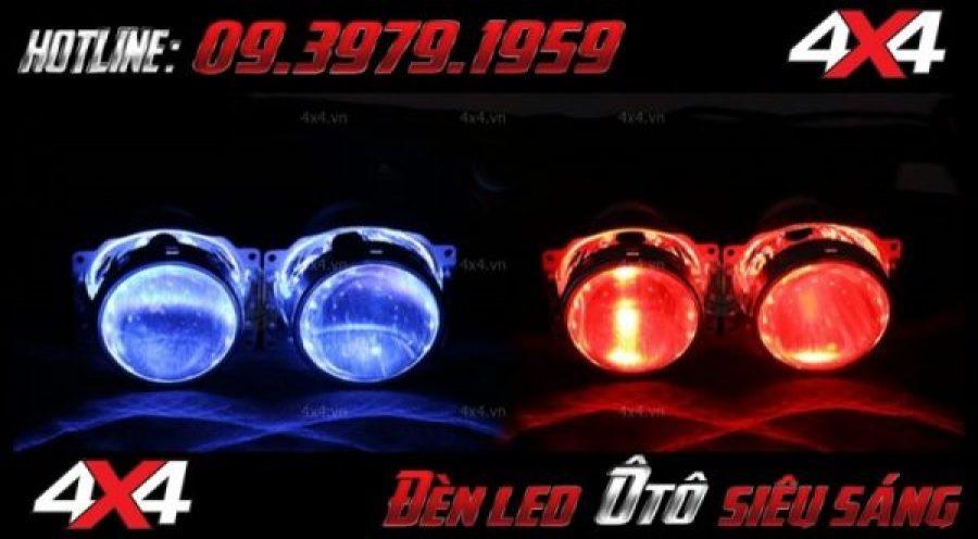 Hình ảnh đèn bi xenon mắt quỷ với nhiều màu sắc độ đẹp cho xe hơi, xe bán tải với giá rẻ