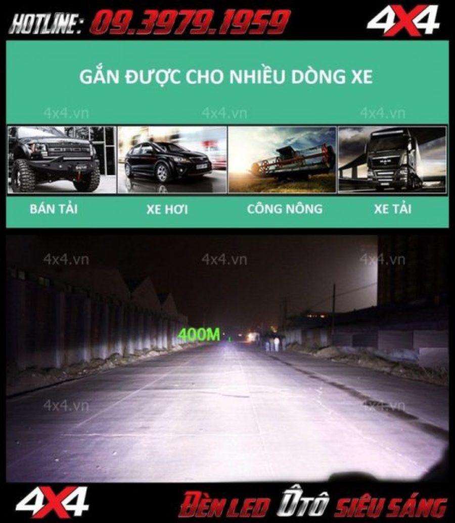 Hình ảnh đèn độ ô tô: đèn led bar 6d có thể gắn được cho nhiều dòng xe và có thể chiếu xa đến hàng trăm mét