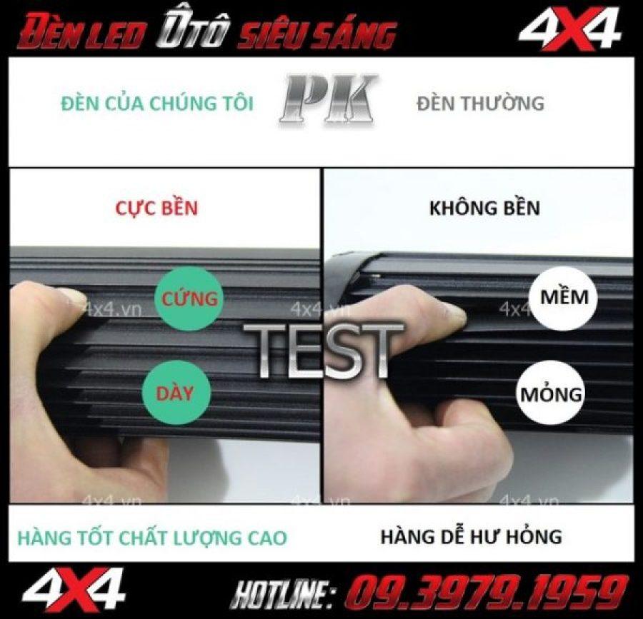 Hình ảnh đèn led ô tô độ: Đèn led bar 6D của chúng tôi được cấu tạo từ chất liệu tốt, cứng và bền hơn các loại đèn thông thường rất nhiều
