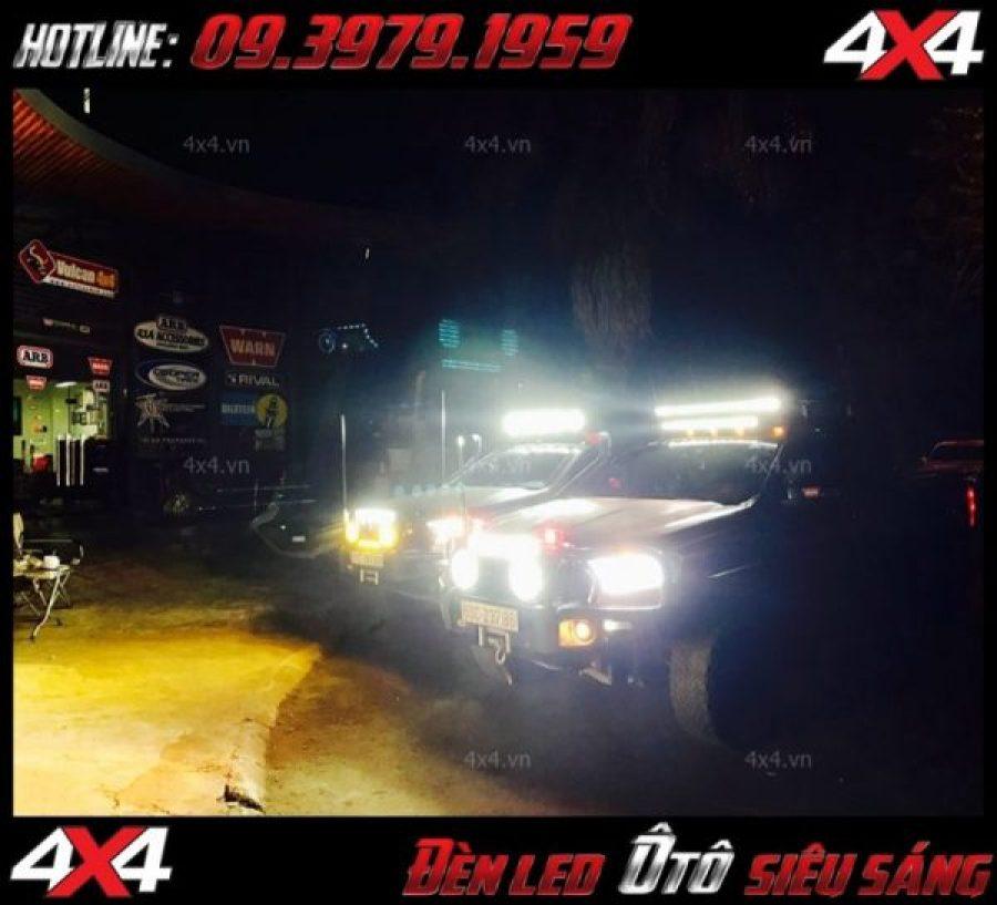 Những chiếc xe bán tải độ đèn đẹp và giúp phá sương mù khi đi đêm