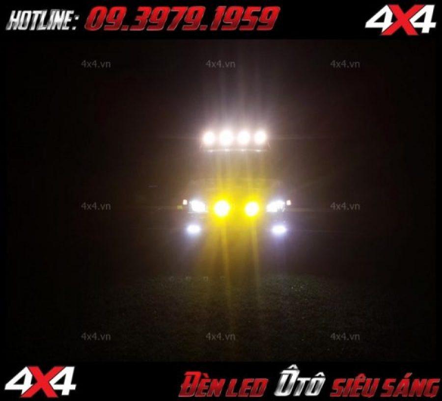 Đèn led bar ô tô và đèn phá sương cực đẹp dành cho xe bán tải o tô tại HCM