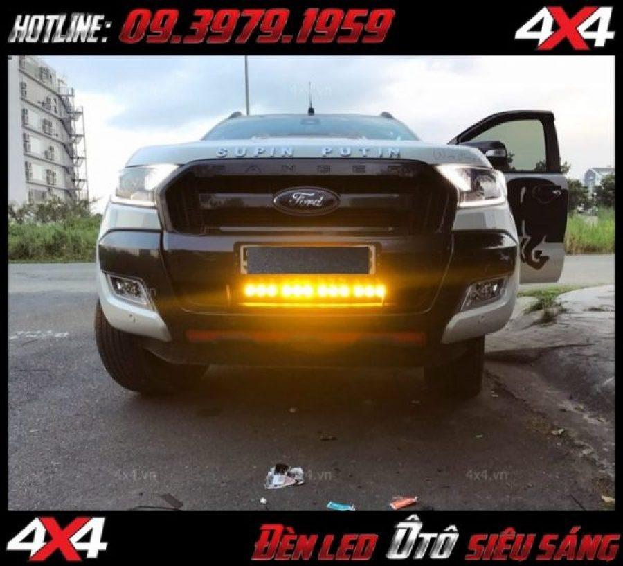 Hình ảnh đèn led bar phá sương mini gắn cho xe bán tải Ford ranger và các dòng xe ô tô khác