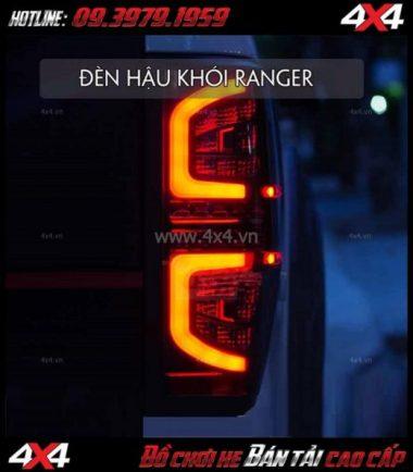 Picture đèn đuôi Ford Ranger 2018 2019 loại Smoked Led của Thái Lan gắn đẹp giá rẻ chất lượng