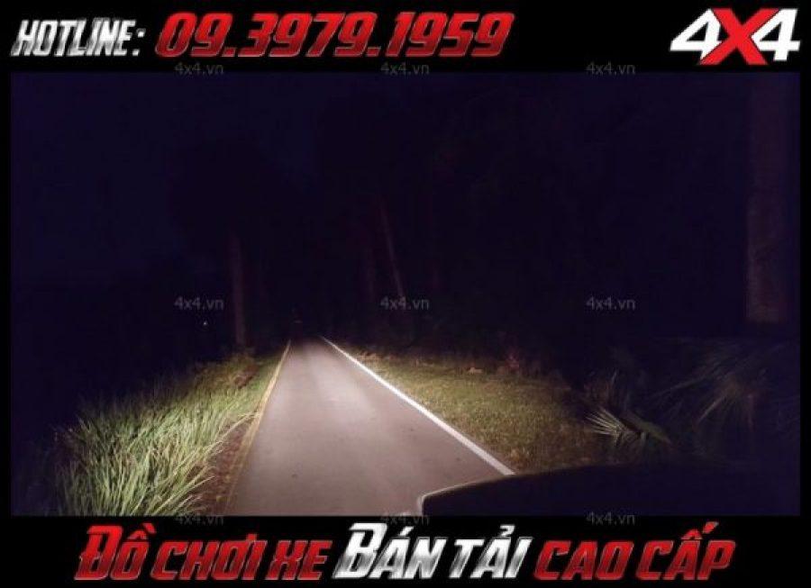Đèn led bar ô tô, đèn led bar xe bán tải 12D siêu sáng dành trợ sáng và trang trí cực tốt cho xe Ford Ranger