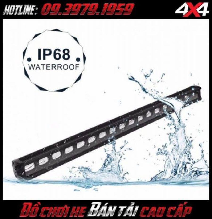 Đèn led bar 6D gắn nóc xe bán tải đạt chuẩn chống nước IP68