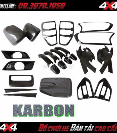 Picture Combo bộ ốp trang trí Carbon cao cấp dành cho xe bán tải Ford Ranger