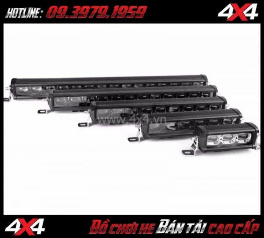 Đèn led bar 6D có nhiều kích thước để các bạn lựa chọn