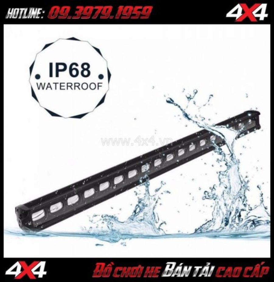 Đèn led bar 6D chống nước đạt chuẩn IP68